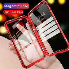 For iPhone 11 Pro Max 7 8 Plus Magnetic Adsorption Double Side Glass Case Cover