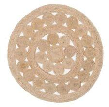 RUGS ROUND Circle Beige Sisal Jute Floor mat Organic **FREE POST**
