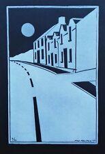 Linocut print Bowmore Islay