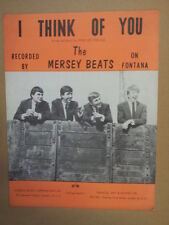song sheet I THINK OF YOU The MErsey Beats 1963
