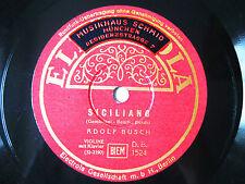 78rpm ADOLF BUSCH Violin - GEMINIANI SICILIANO + VIVALDI SUITE - Orig. Electrola