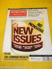 INVESTORS CHRONICLE - NEW ISSUES - APRIL 11 2002