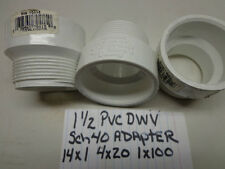 1-1/2 PVC DWV MPT Adapter Schedual 40 Genova 70415 for Drain Trap Nut Lot of 1