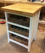 Handmade Oak Kitchen Islands & Carts with Drawers