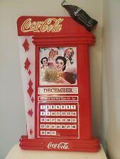 """Bradford Exchange """"Coca-Cola 50's Perpetual Calendar"""" collector plates & display"""