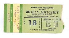 MOLLY HATCHET JAN 18 1982 TICKET STUB VETERANS MEMORIAL COLISEUM PHOENIX (483)