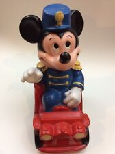 "Vintage 1977 12"" Mickey Mouse Band Leader Bank Childrens Disney Collector"
