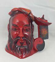 Royal Doulton Large Flambe Character Jug Confucius D7003 Ltd Ed. CoA Boxed