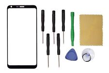 Black Outer Front Screen Glass Lens Replacement For LG Q6  M700N M700A +Tools