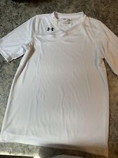 Under Armour Boys Short Sleeve Loose Fit White T-Shirt Size YLG