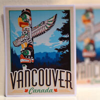 """#3156 Vancouver BC Canada Vintage Mini Poster Luggage Label 4"""" Decal Sticker"""