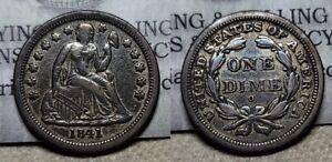 1841 O Seated Liberty Dime 10c