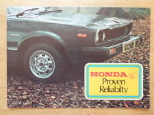 HONDA RANGE orig 1976-77 UK Mkt Sales Brochure - Accord Civic 1st Gen