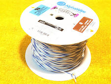 1000' SPOOL ALPHA WIRE AWM 3053  WHITE / BLUE #20 AWG HOOK UP WIRE ALPHAWIRE