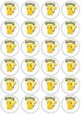 24 x Pokemon Large Pikachu Edible Cupcake Topper Birthday Party Cake Decoration