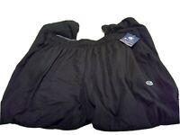 NWT Champion Authentic Athletic wear Black Sweatpants Men's Size XL