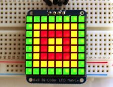 Bi-colour LED Square Pixel Matrix with I2C Backpack