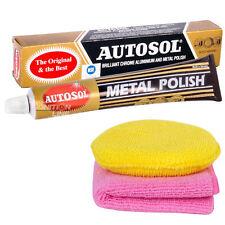 Autosol Solvol Original Metal Chrome Polish Aluminium Car 75ml + Cloth & Pad