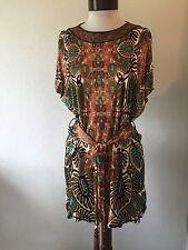 JEAN PAUL GAULTIER Orig. $500.00 Dress Multi-Color Self-Belt Size XS