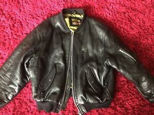 Kudsak West Bull Heavy Black Leather Flight Jacket
