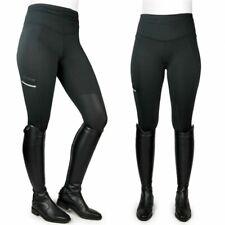-John Whitaker Ladies Pellon Riding Tights- Jodphur-Black-Stretch Comfort