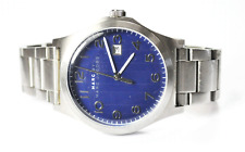 Marc Jacobs Jimmy Watch Blue Dial MBM5043 Date 44mm Stainless Steel Wristwatch