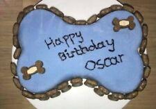 Personalised Any Name Happy Birthday Dog Bone Cake For Boy By Doggylicious Cakes