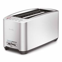 Breville BTA830XL Die-Cast Smart Toaster 4 Slice Long Slot 110 Volts