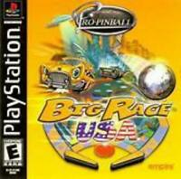 Pro Pinball Big Race USA Playstation Game PS1 Used Complete