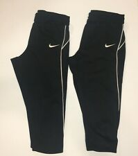Lot of 2 pair Nike Softball Pants Size Small Black with White Stripe