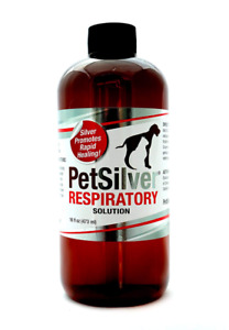 PetSilver® Respiratory Solution with Chelated Silver - Dog & Cat - 16 fl oz