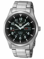 SEIKO 5 SNZG13 SNZG13K1 Automatic Army Military Black Men's Watch US*4