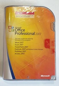 MICROSOFT OFFICE PROFESSIONAL 2007 SOFTWARE UPGRADE
