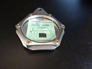support vignette chrome aluminium assurance moto harley HEXAGONAL