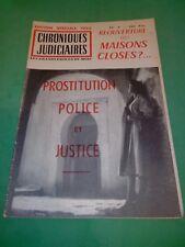 Chroniques judiciaires n°9 - Décembre 1954/1955 (Prostitution et Maisons Closes)