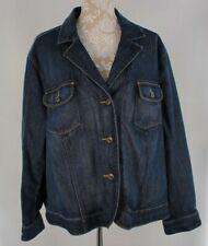 Talbots Woman Stretch Denim Jean Jacket Size 24 W  Button Front