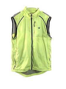 BONTRAGER L MEN'S LIGHTWEIGHT PACKABLE CYCLING WIND VEST FULL ZIP Lime Green