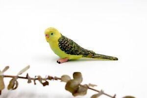 Miniature Bird - Green Parrot Budgerigar / Budgie - Fairy Garden