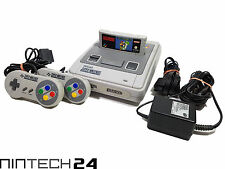 SNES - Super Nintendo Konsole mit Super Mario World + 2x Original Controller