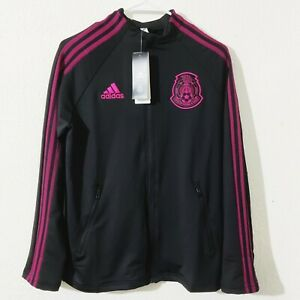 Adidas Mexico National Team 20/21 Black Pink Anthem Jacket FH7831 Youth Size L