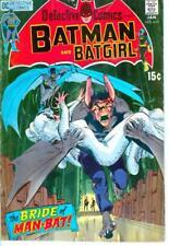 """Orig Batman & Batgirl """"The Bride Man-Bat!"""" No 407 1-71 Bronze Age Comic Book"""