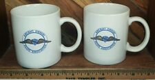Aircraft Owners Pilots Association Vintage Coffee Mug Tea Cup lot of 2