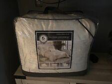 Cortina Crinkle Velvet 5 Piece Full/Queen Bed Comforter Set - Ivory White