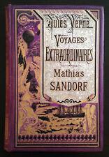 Mathias Sandorf / Jules Verne - Hetzel Bannière argent fond violet