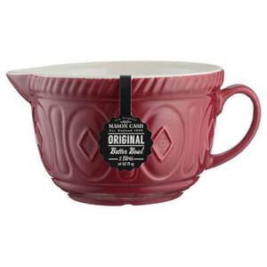 The Original Mason Cash Ceramic 2 Litre Batter/ Cake mix bowl 240510 Red