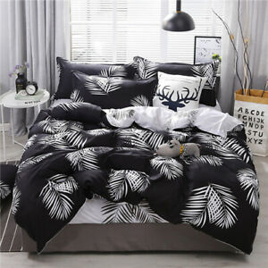 Heart printing bedding set 3/4pcs bed linens Textile Duvet cover set bedclothes