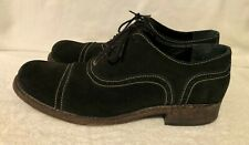 Messico Mens Black Suede Leather Dress Shoes Lace Up Size 13