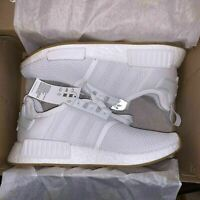 New Men's Adidas NMD_R1 White Sneakers Size 4 D96635 Shoes