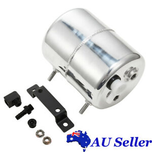2L Polished Aluminum Alloy Brake Vacuum Reservoir Tank Can Universal For GM Ford