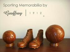 Football set | Vintage Tan Leather Footballs, Shoes & Wooden bases | Retro